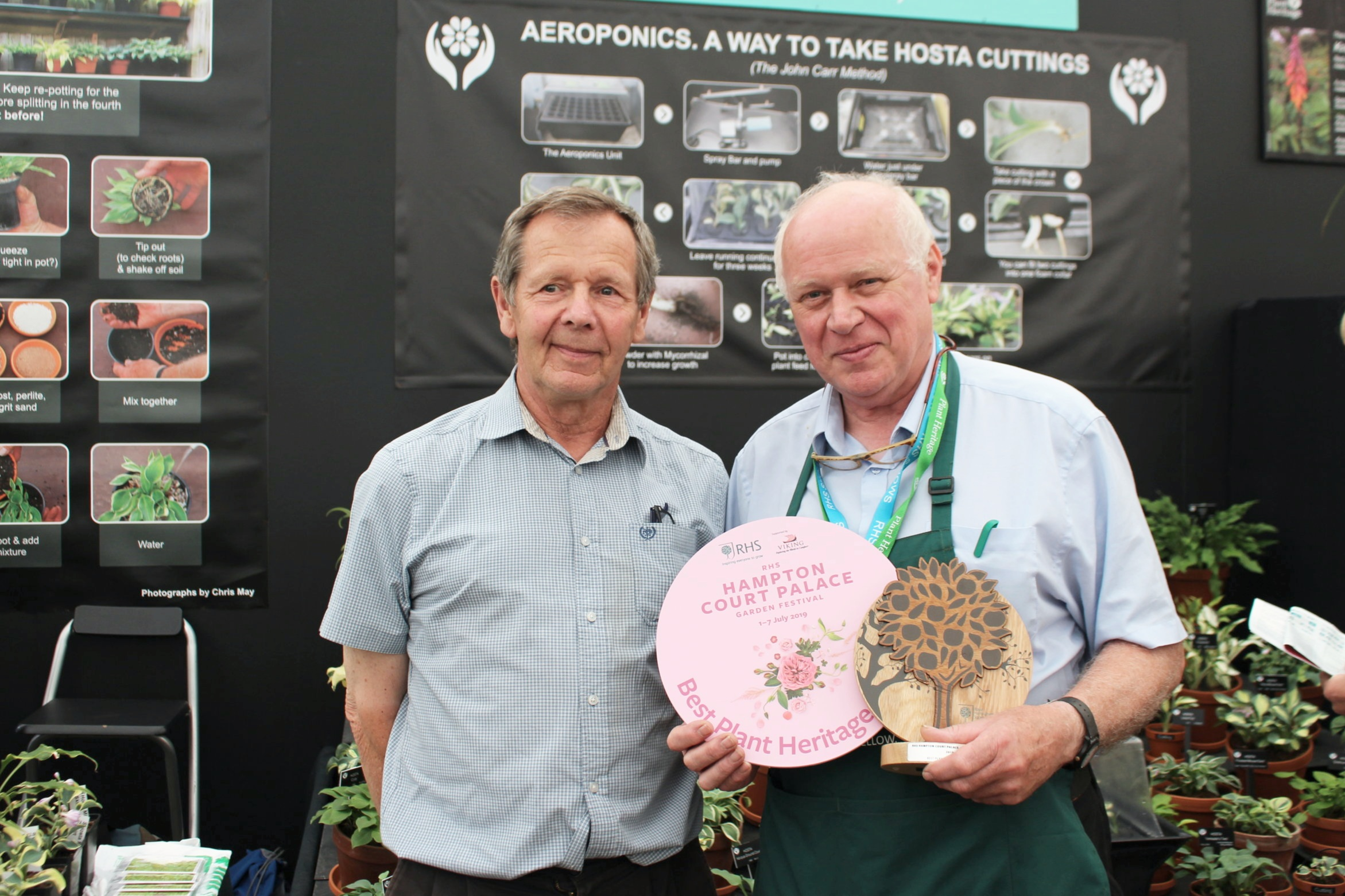 Jonathan with John Carr being presented with 'Best in Section' award - Thank You to Gill Groombridge for the excellent photo!