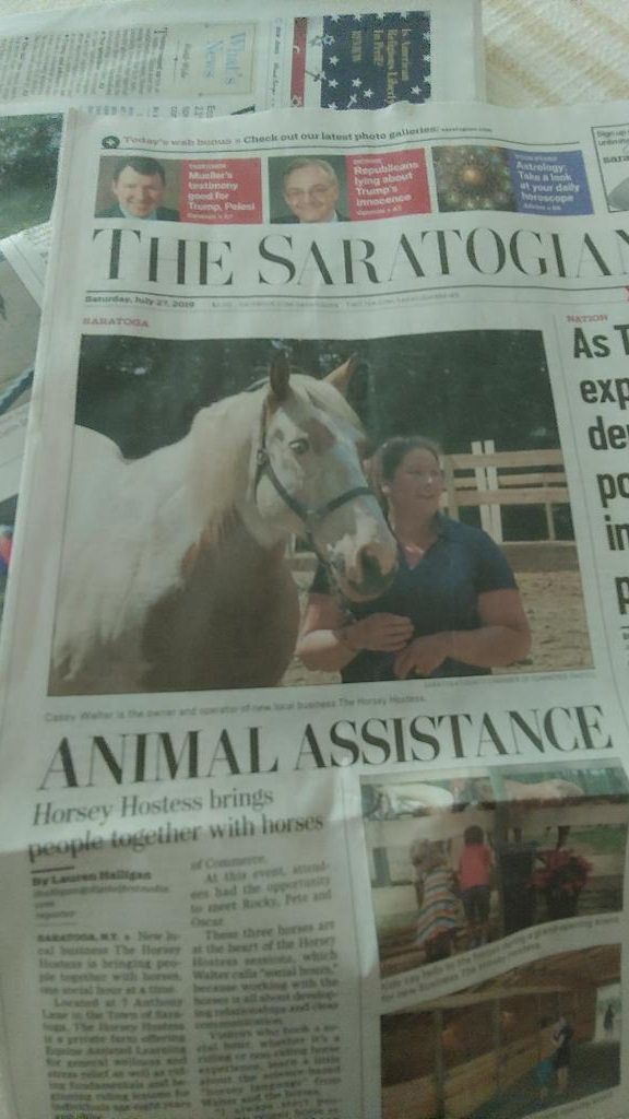 We're Famous! - So proud to have made it onto the front page of The Saratogian! Click HERE to read the whole article online.