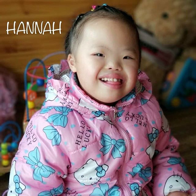 Hannah is all smiles about tomorrow being World Down Syndrome Day! We can't wait to celebrate all the wonderful people in our lives with Down syndrome💛💙 #JoyfulLifeWaitingChildren #PrayForHannah #WDSD2019