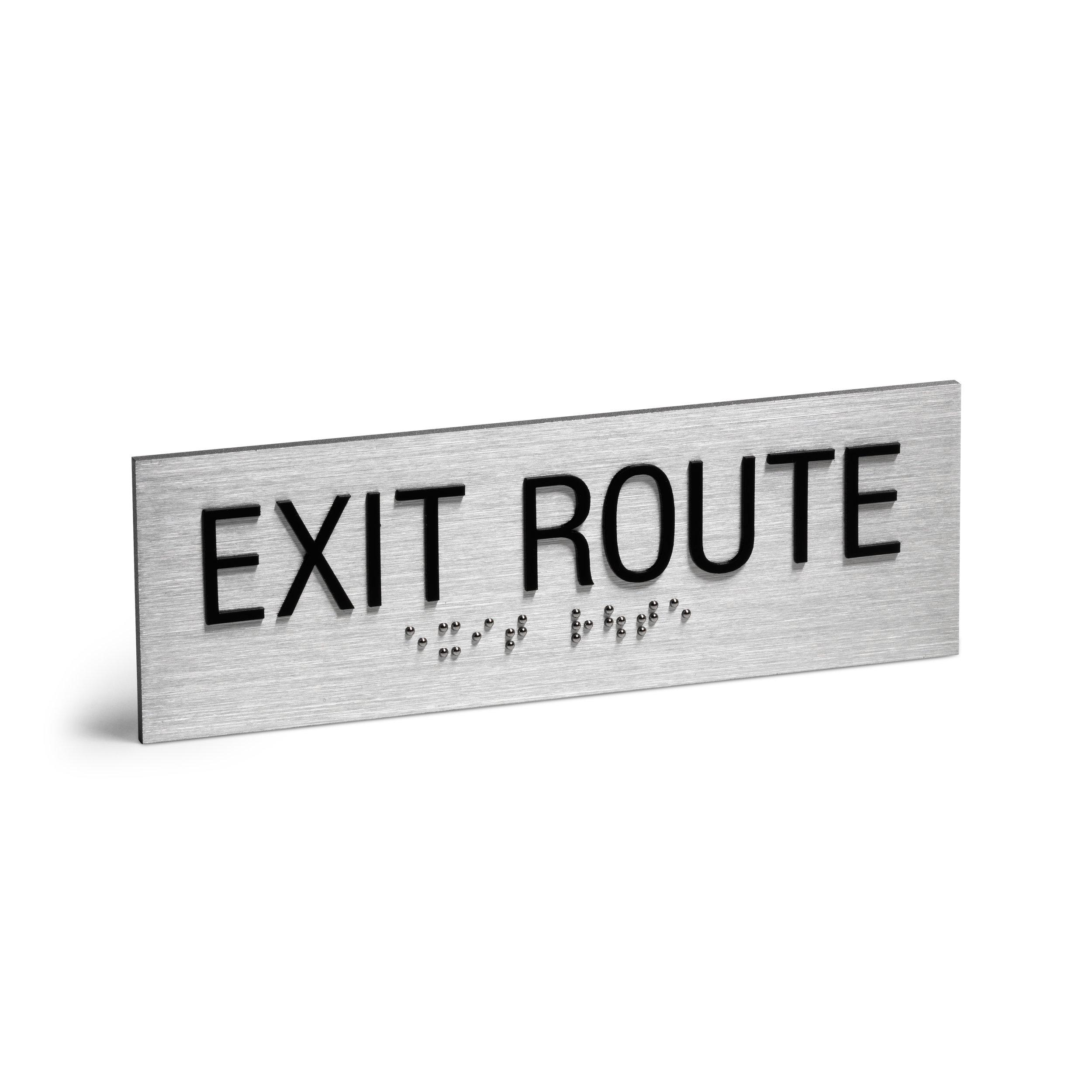 Exit Route Braille