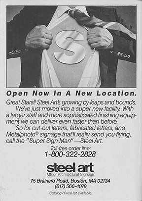 Steel Art Vintage Advertisement