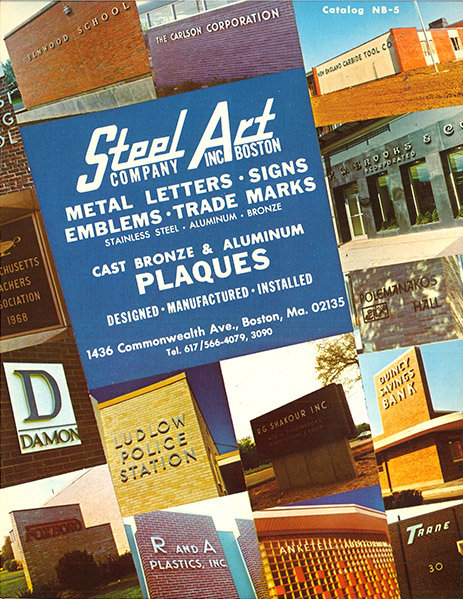 Steel Art vintage brochure