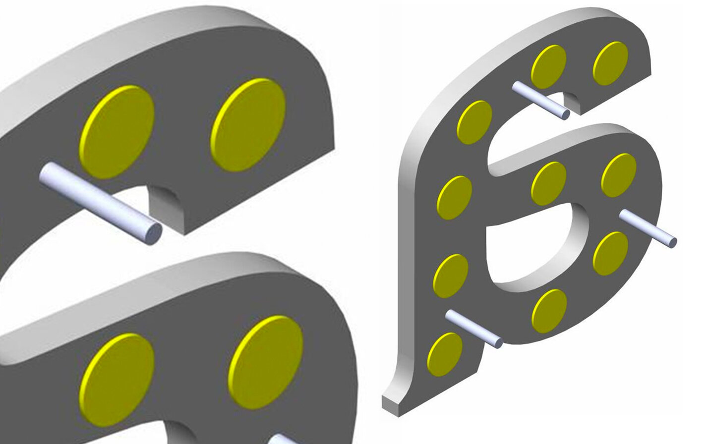 T-6 Double Side Tape Dots with Studs (Copy)