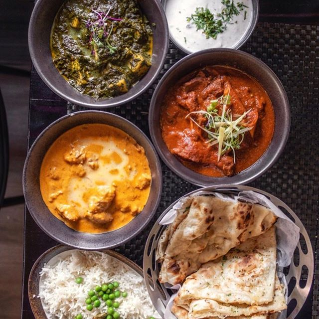 "repost @cy_eats ....... ""All for me and naan for you""! a Sunday night dinner worthy spread at #bhattiindiangrill ...... #indianfood #indianrestaurant #indainfoodnyc #naan #saagpaneer"