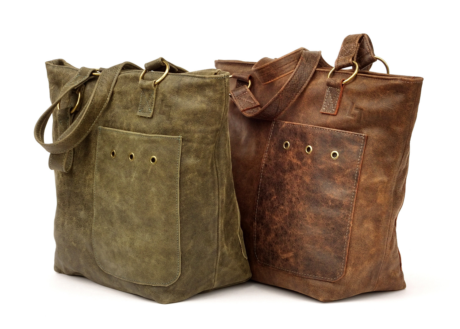 5-Handcrafted Leather Shoulder Bag, Teeny Tote, LaPlace Leather, Memphis -002.JPG