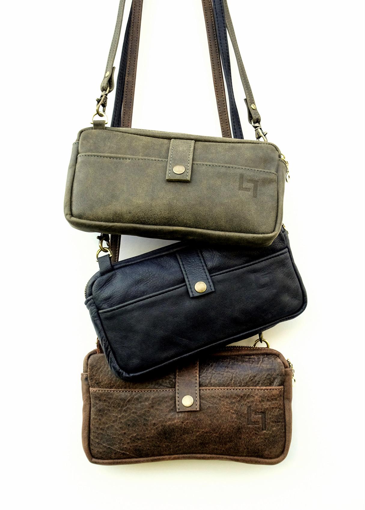 2-Handcrafted Leather Shoulder Bag, Burnin' Man, LaPlace Leather, Memphis -003.JPG