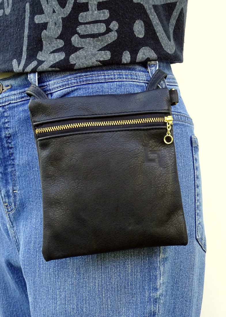 1-Handcrafted Leather Belt-Shoulder Bag, Hippie, LaPlace Leather, Memphis T-005.JPG