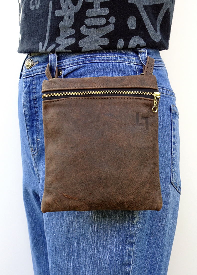 3-Handcrafted Leather Belt-Shoulder Bag, Hippie, LaPlace Leather, Memphis-003.JPG