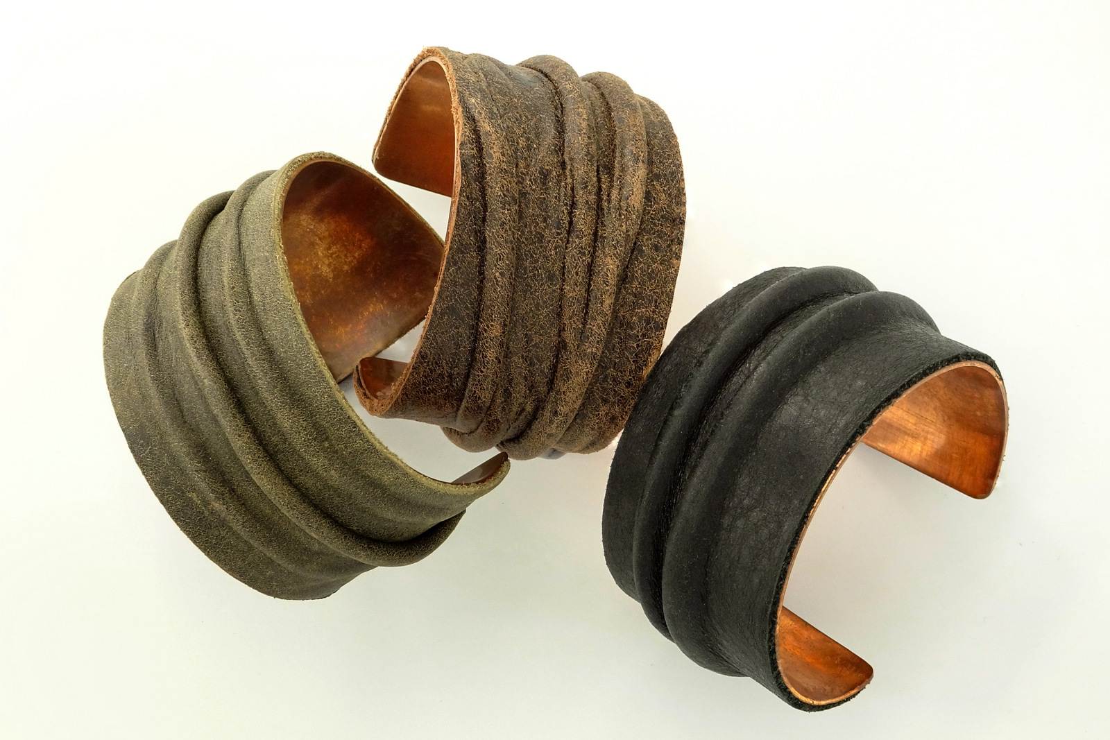 3-Hancrafted Leather Cuff Bracelets, LaPlace Leather, Memphis TN-002.JPG