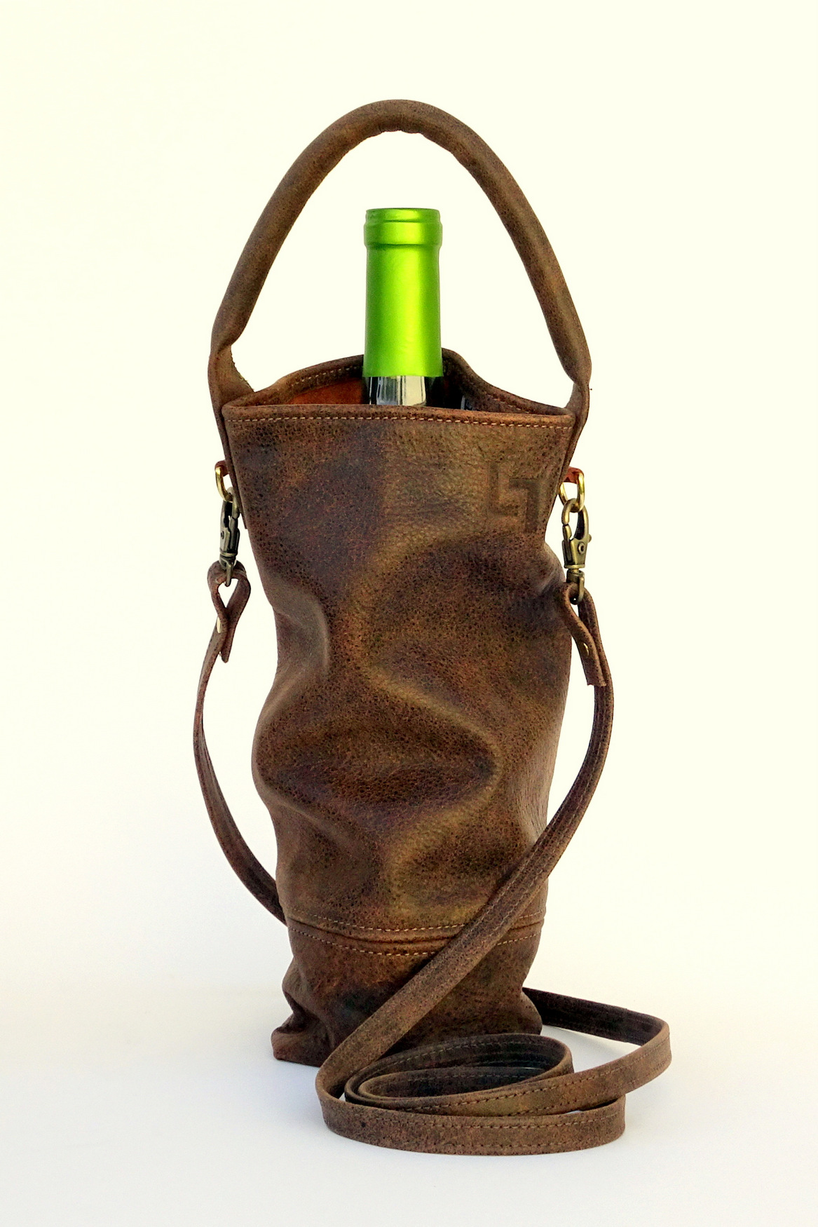 3-Handcrafted Leather Wine Tote Bags, LaPlace Leather, Tennessee-002.JPG