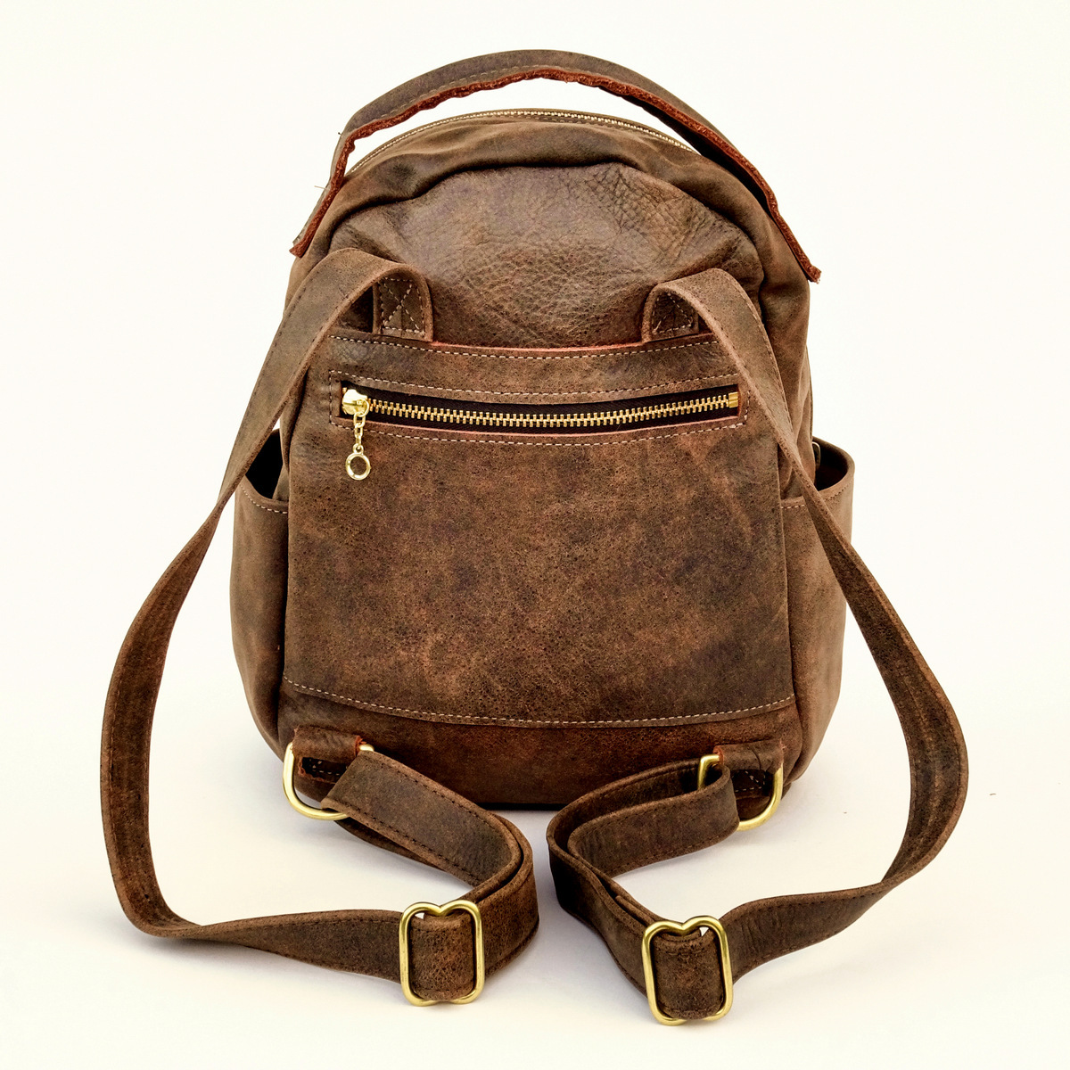 1-Handcrafted Leather Back Pack, Day Trip, LaPlace Leather, Memphis-1-008.JPG
