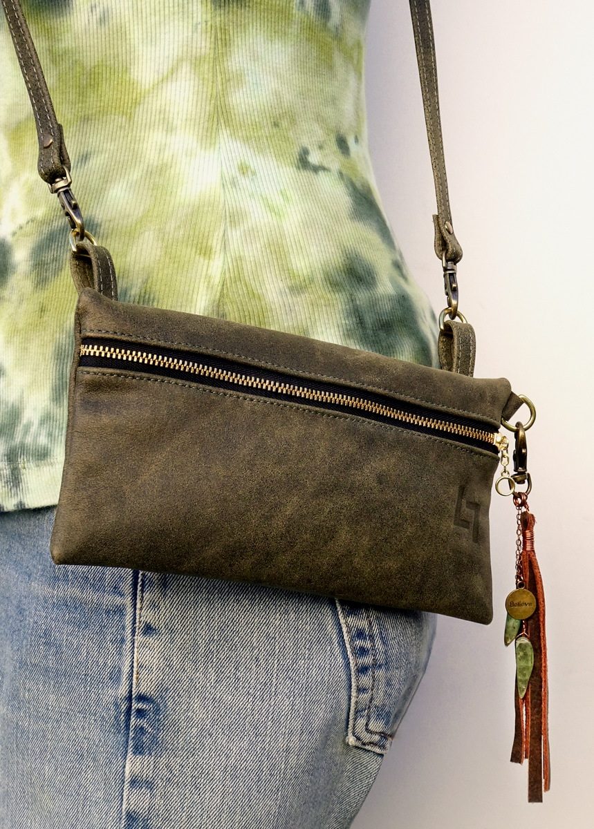 1-Handcrafted Leather Fanny Pack-Shoulder Bag, LaPlace Leather, TN-003.JPG