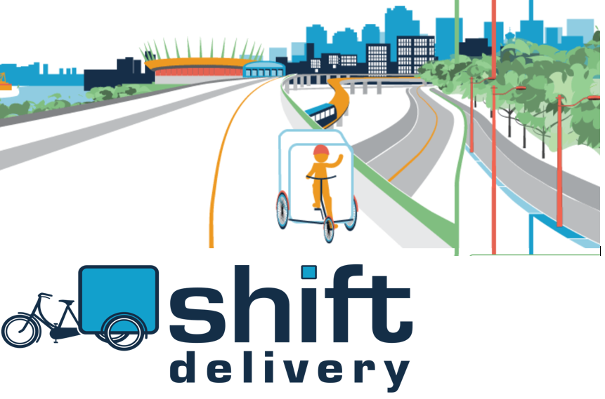 Sustainable Delivery - Shift Delivery contributes to a healthier city by replacing conventional trucks with pedal powered trikes and electric cargo vehicles. Zero tailpipe emissions are emitted and each trike uses less electricity than a typical household dryer per year.Accomplishments 2012-2017: (1) 117,000 deliveries(2) 150,500 kilometers traveled (3) 70 tonnes of CO2 emissions avoided