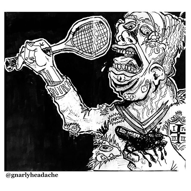 Affluenza Patient Zero - - - - - #illustrator #illustration #drawing #art #artistsoninstagram #sketch #doodle #affluenza #richpeople #condotrash #tennis #yuppie #dieyuppiescum #whiteprivilege #wealth #wealthsupremacy #rushtherich #eattherich #nopasaran #antifa #antifascist #anticapitalism #politicalcartoons #pen #marker #ink #bushwick #brooklyn