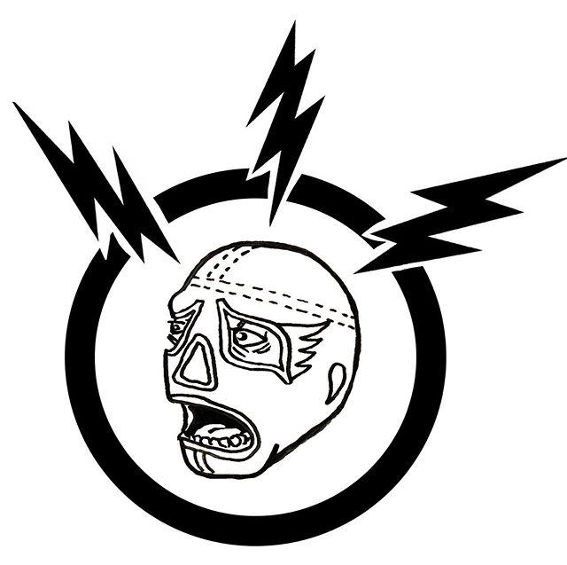 New logo, who dis? - - - - #sanchorudo #luchalibre #luchador #mascaradeluchador #illustration #logo #drawing #gnarly #headache #gnarlyheadache #blackandwhite #freehand #art #cartoon #wrestler #lightening #bolt #bushwick #brooklyn #newyork #mexico #cdmx #mexicocity #artistsoninstagram #printmaking #stamp #logodesigner