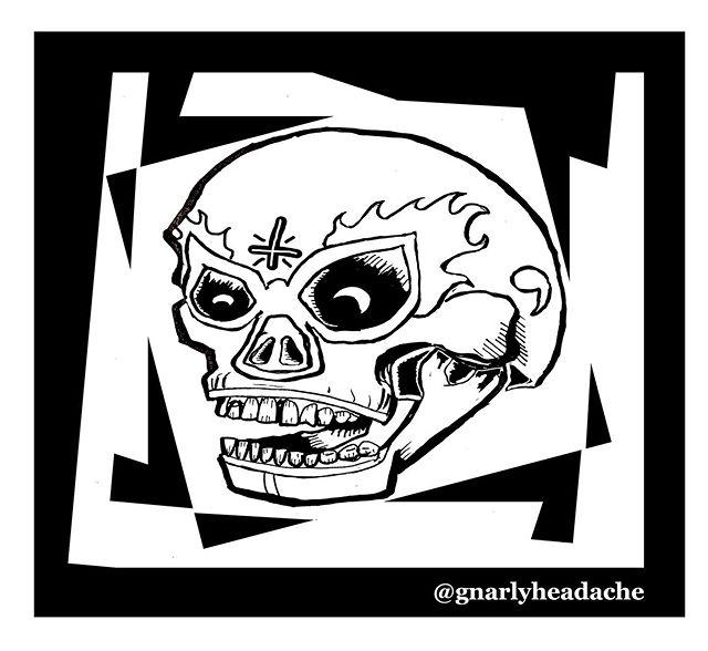Who would want shirts? - - - #luchalibre #luchadores #skull #calavera #mascaradeluchador #luchador #mask #illustration #tshirt #tshirtdesign #art #drawing #artistsoninstagram #illustratorsoninstagram #silkscreen #bushwick #brooklyn #apparel #appareldesign #newyork #mexicocity #cdmx
