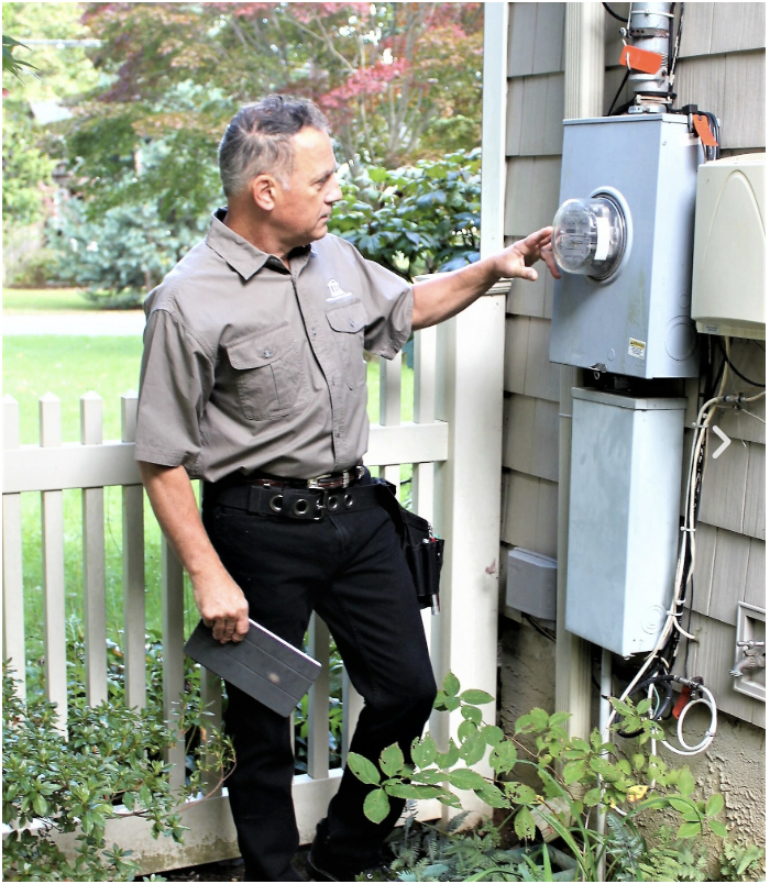 Imperial Certified Home Inspector Electric Meter Joe Chiovarelli serving Nassau Suffolk Counties Long Island New York