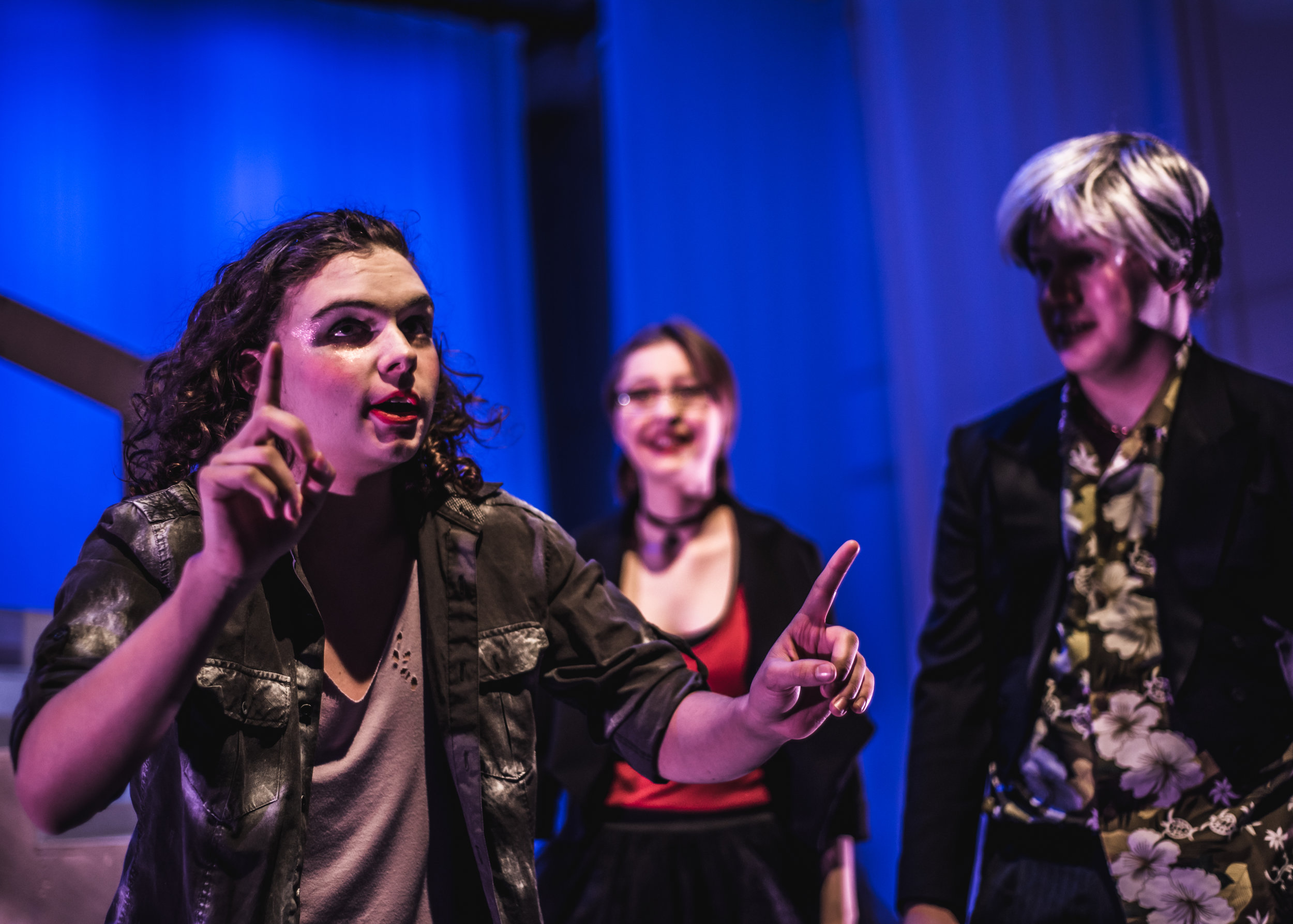 Feste the Clowne in Shakespearean Youth Theatre's 2018 production of the Shakespeare play  Twelfthe Night . Photo: Jake Otto