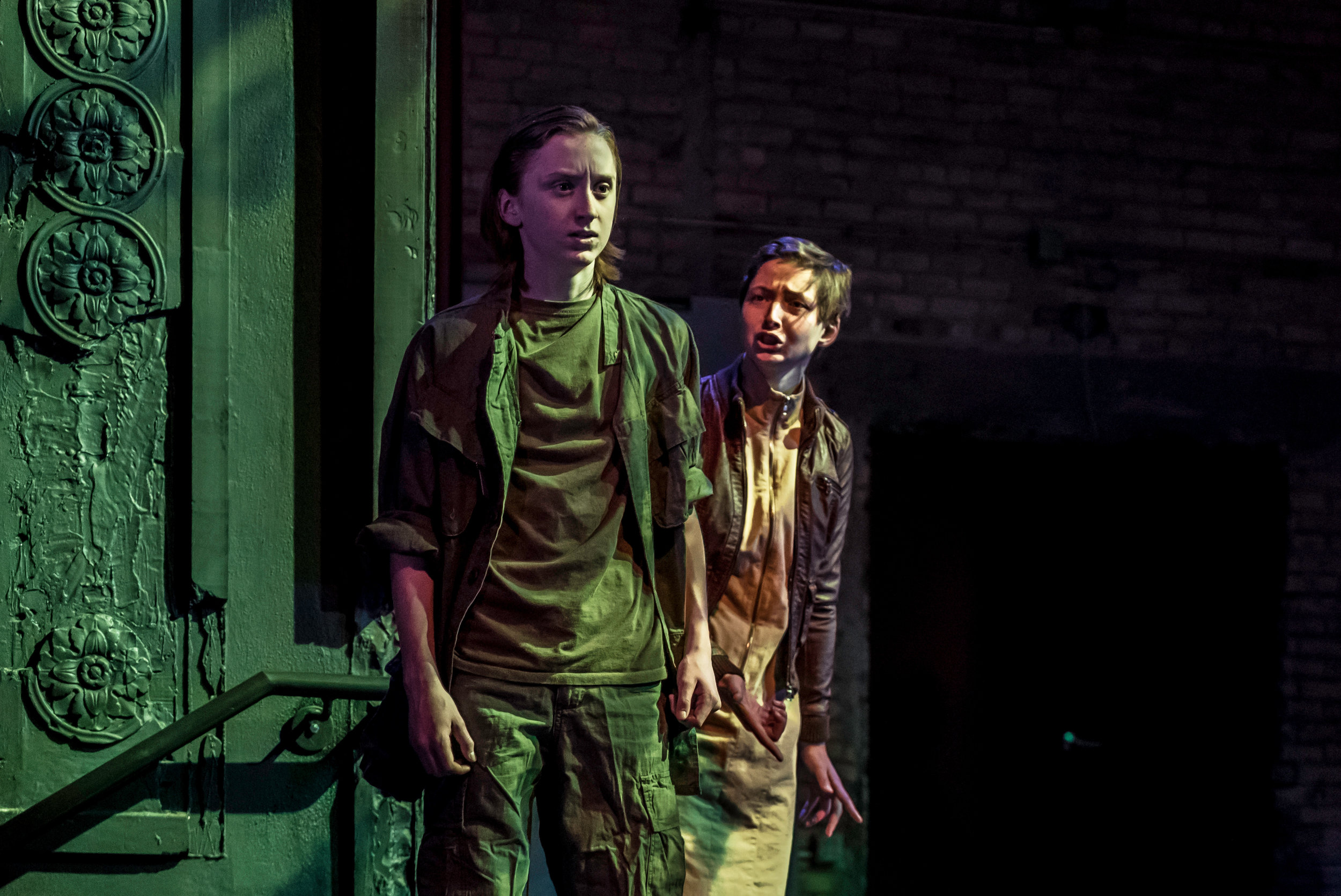 Isaac Jaro as Macbeth and Vee Signorelli as Lady Macbeth in the SYT Core Ensemble production of MACBETH (2016)  Photo: Logan Verdoorn