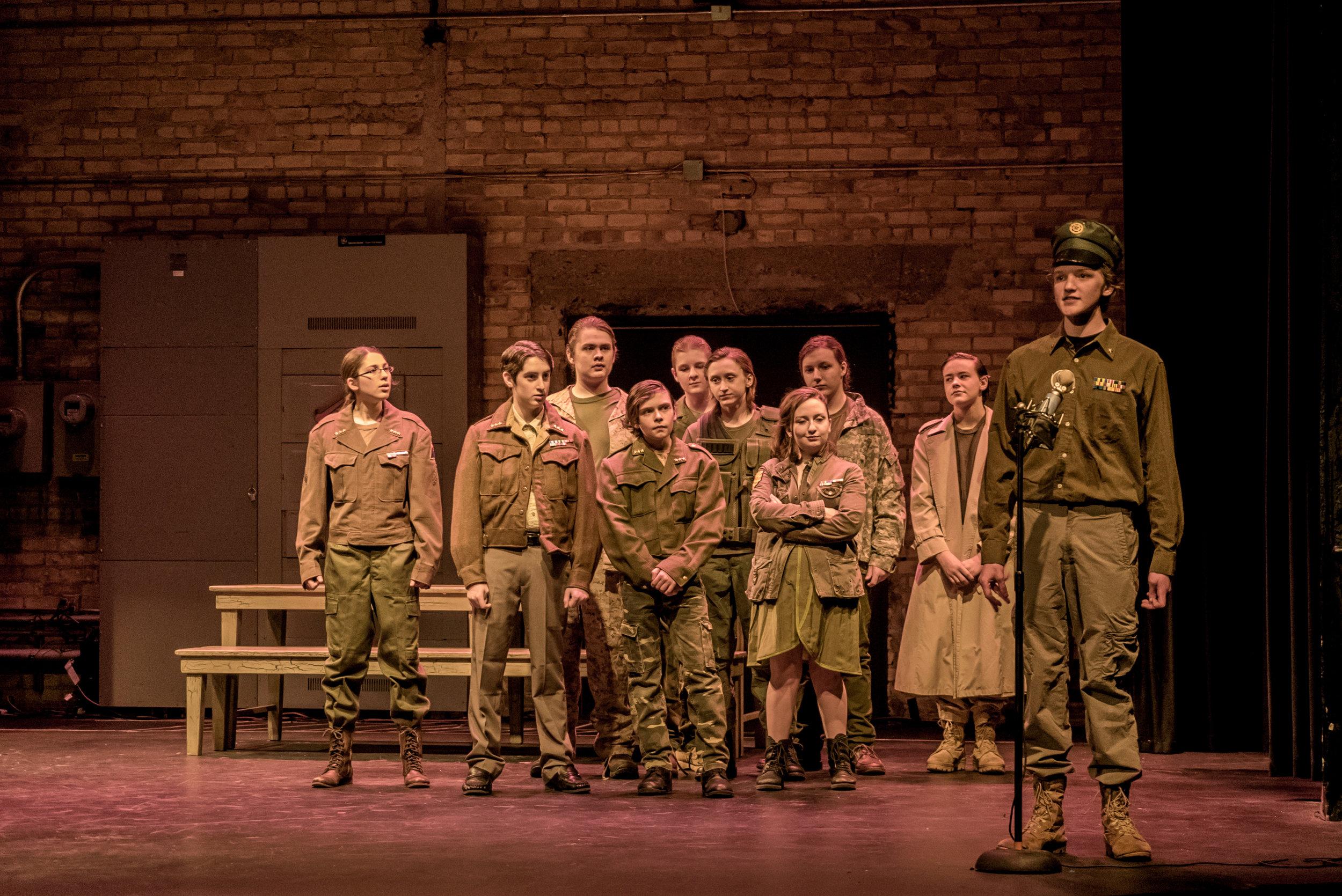 The cast of SYT Core Ensemble production of MACBETH (2016)  Photo: Logan Verdoorn