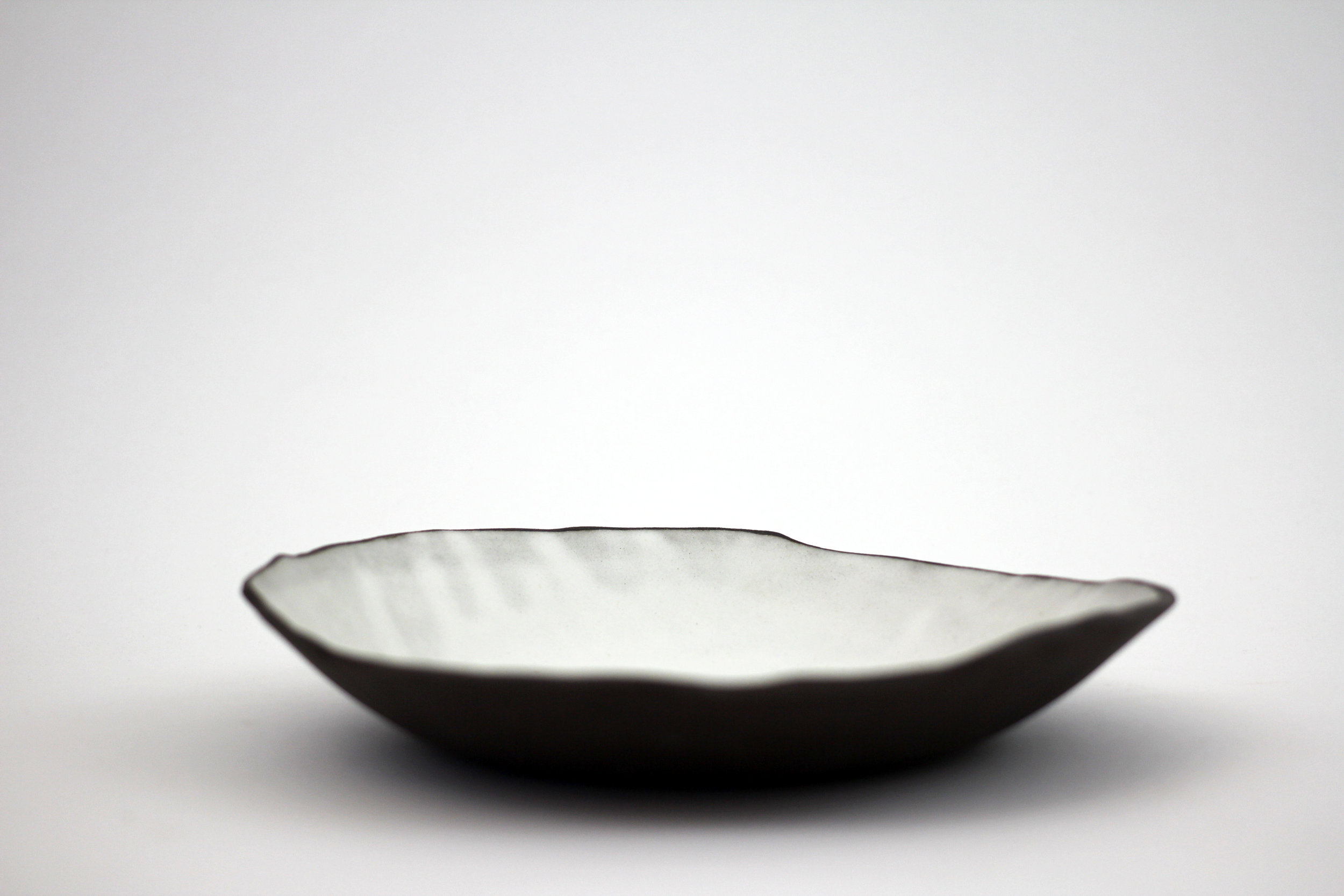 shallow bowl, white
