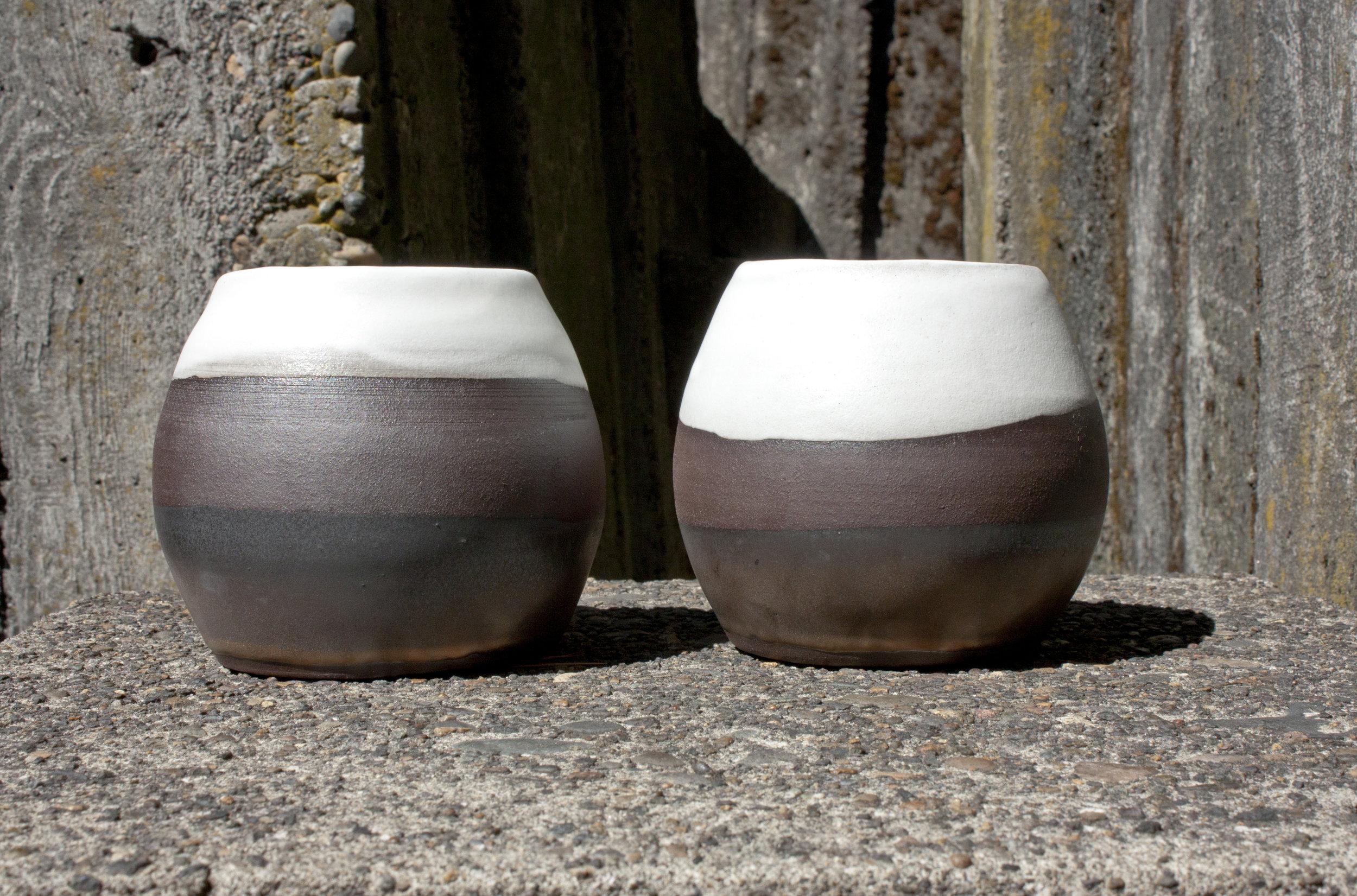 orb vase, bronze