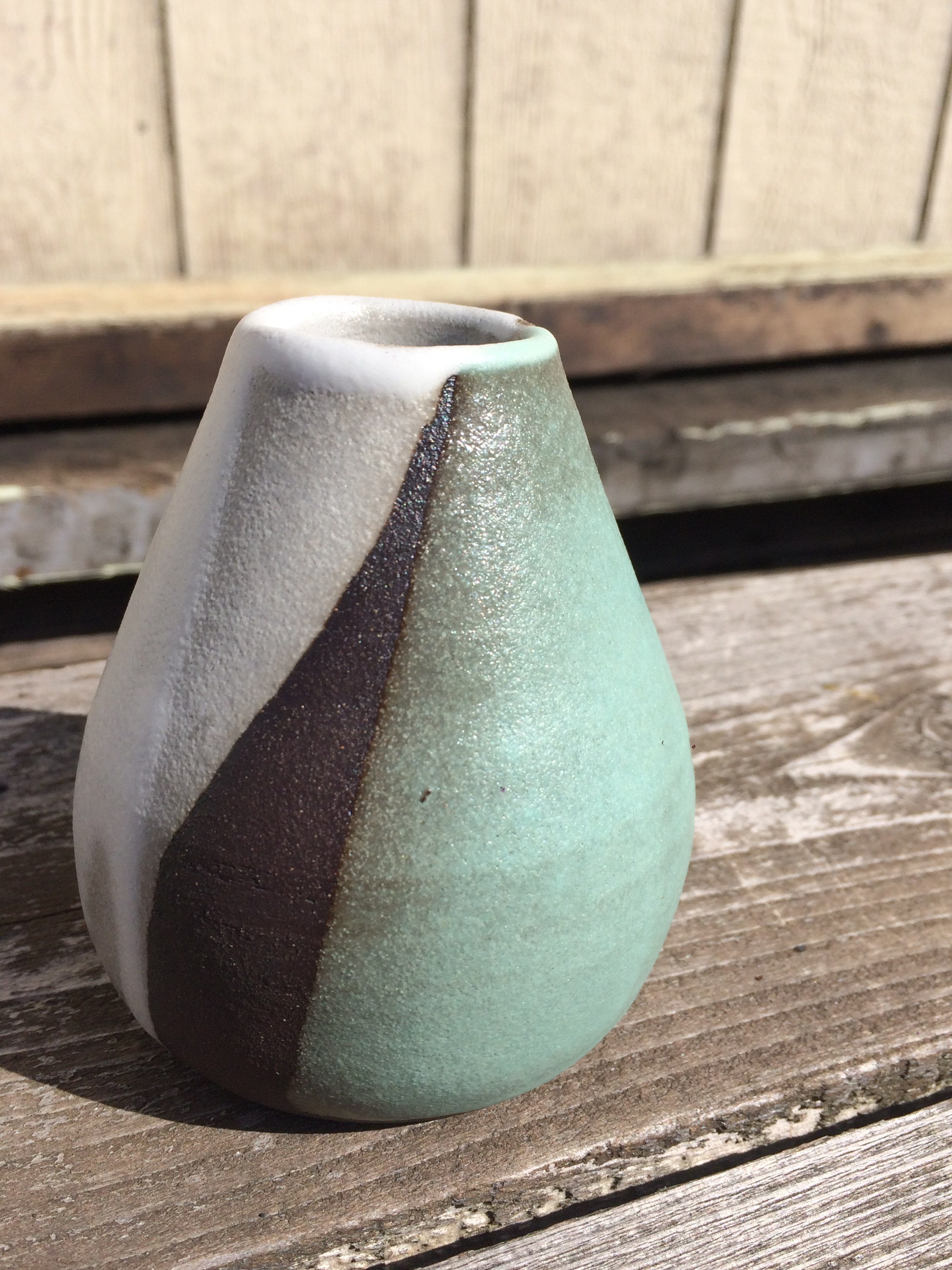 bud vase, aqua