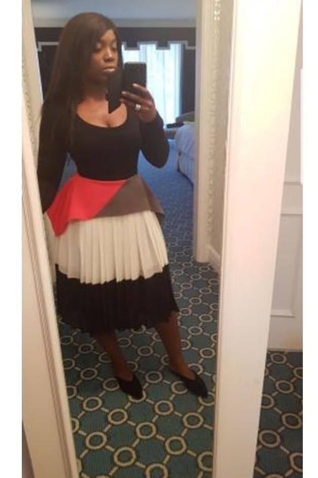 @oluwatomi1 in the FELICIA Skirt