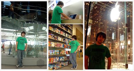 Pedro en el Apple Store