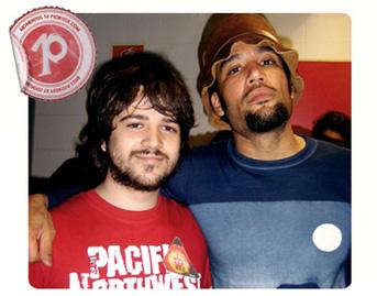 Pedro con Ben Harper