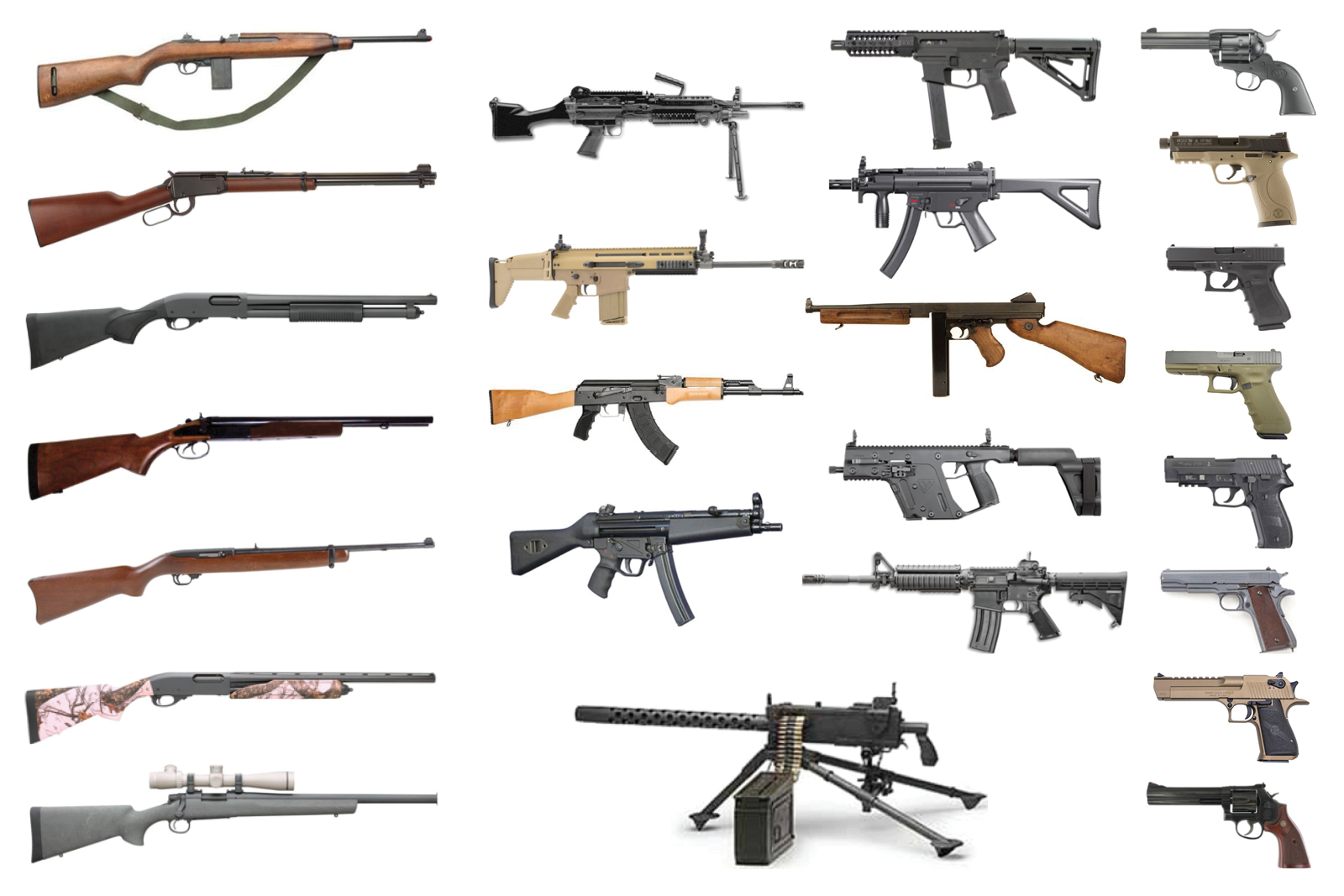 Build Your Own Experience Package - Start with your pick of any 3 guns to build your own custom shooting experience. Or, for extra firepower, add 1, 2, of 3 more guns to complete your shooting experience. Firearms include handguns, shotguns, rifles, and machine guns. From Hollywood western movies to modern military forces, these guns have earned their place in American history and culture — and now you can try them for yourself.