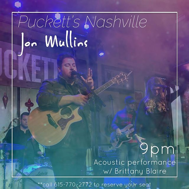 Tonight's the night!! It's been a while since I've played in Nashville! Super excited! Glad that my first show back in Nashville is at @puckettsgrocery! Love this establishment and the people. I can't wait!! Also, get ready to hear some killer backing vocals by none other than the great @birdyblaire! Gonna be a fun night. 9pm. Puckett's 5th and Church. Call 615-770-2772 to reserve your seat if you haven't already! . . . . #nashville #tennessee #music #love #singersongwriter #singerlife