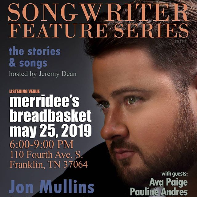 Super excited for this intimate acoustic show tomorrow night at @merrideesbreadbasket. If you are in @franklin.tennessee, be sure to stop by. Show is from 6-9 and I absolutely can't wait!! Hope to see you all there.