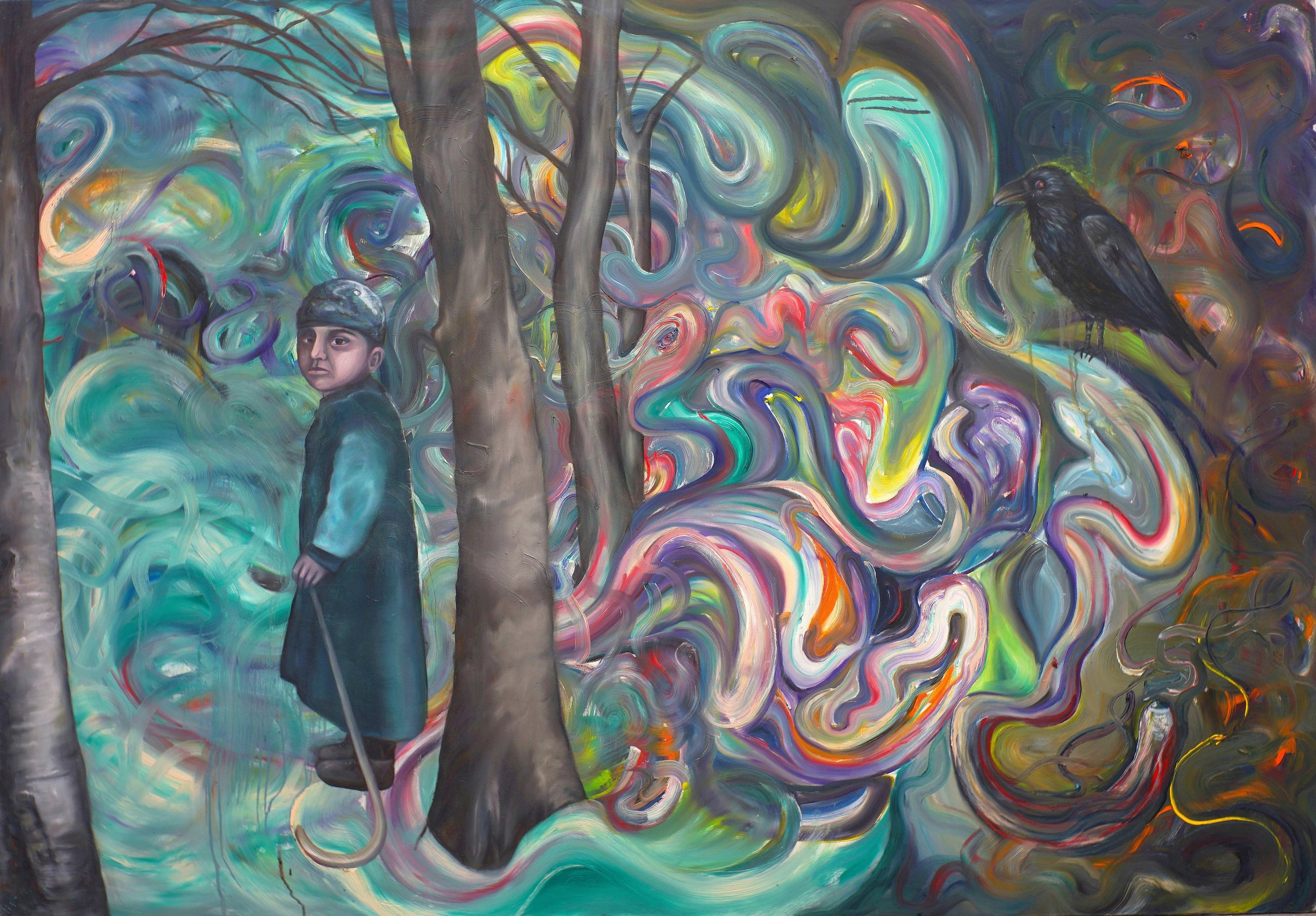 ©Boy in the Wood/Oil on Canvas/140X200cm/2014