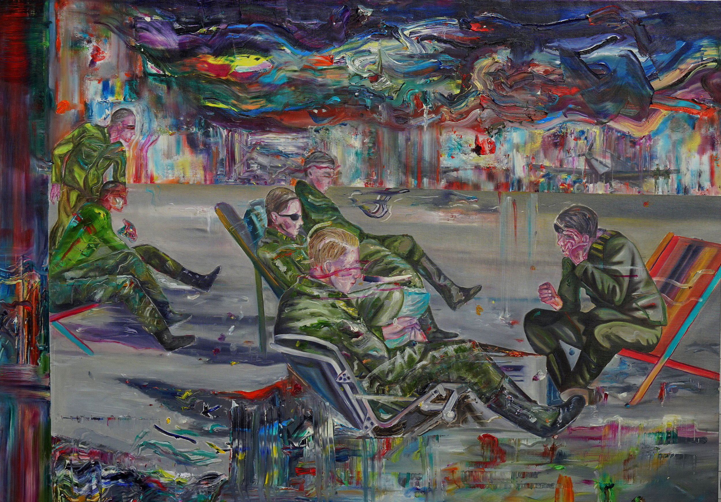 ©The Nightwatch/  Oil on Canvas  /100x140cm
