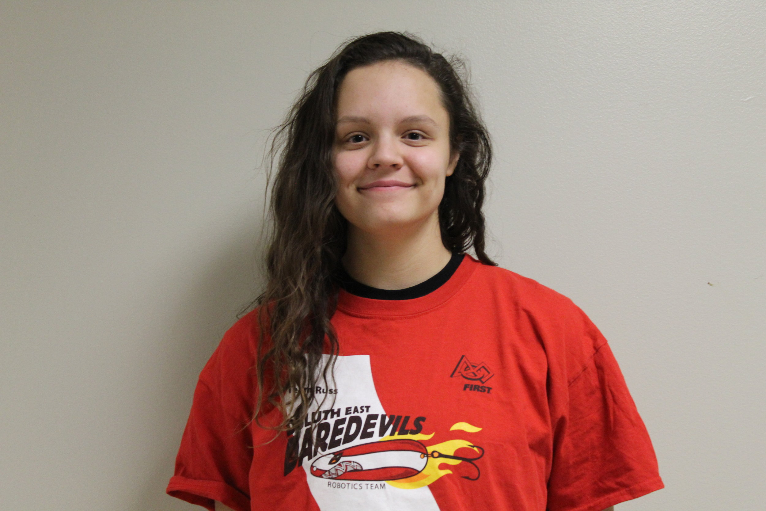 Kylene s. - Kylene is a sophomore at Duluth East High, and this is her second year on the team. In her free time she plays soccer and competes in track and field.