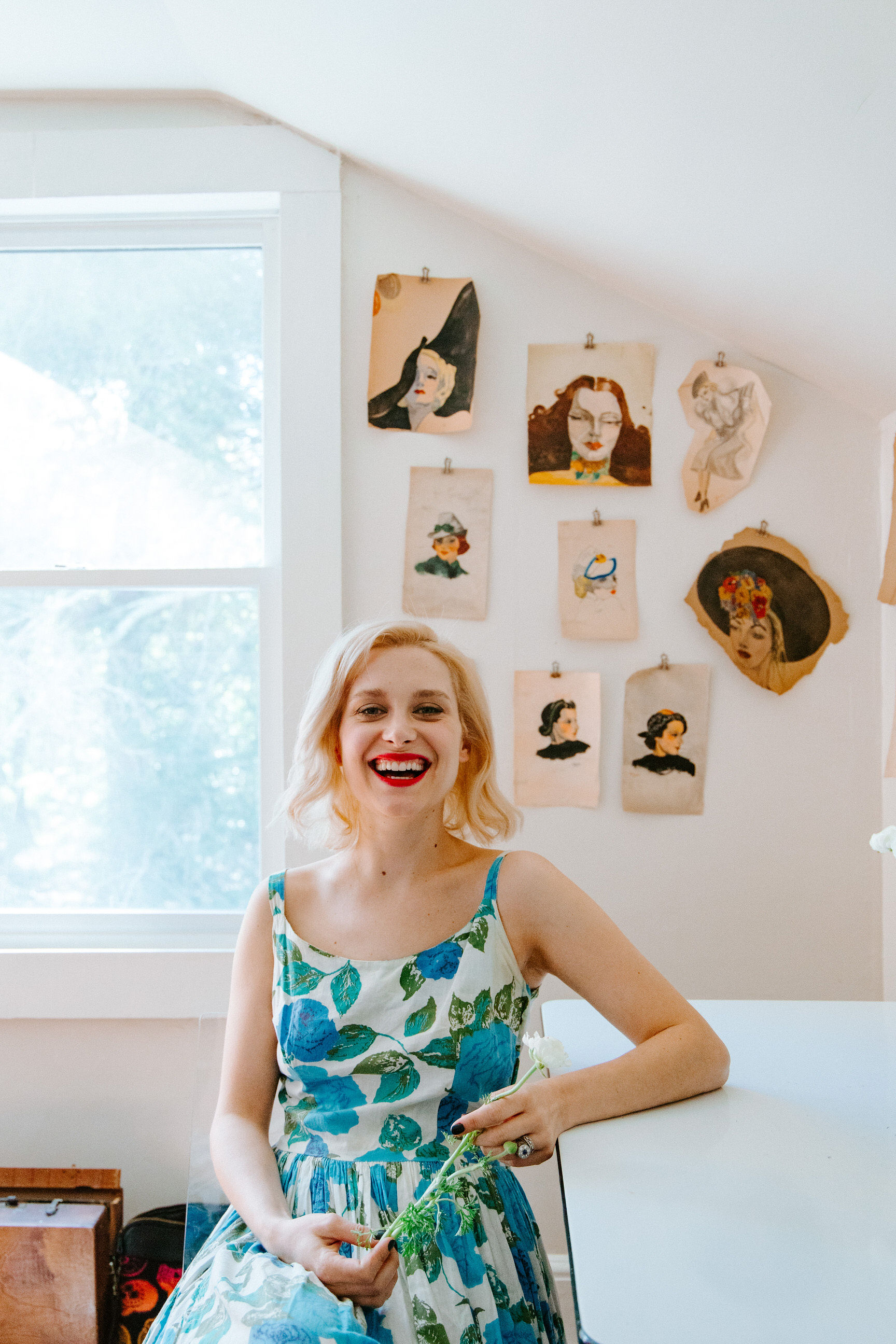 Hello! I'm Courtney Hinton, owner of Hearth + Home Interiors. I'm a Yankee-born, West coast-transplant who now lives in a little 1920's farmhouse in Asheville with my insanely wonderful man and three spoiled fur babies. Things that make me happy are: old houses, antiques, black paint, animals, vintage dresses, rock n' roll, cooking, drinking wine and watching movies (especially period pieces).