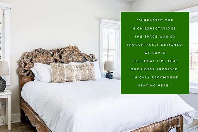 We love getting these positive reviews!! Hearth + Home Rentals works hard to provide a personalized experience from our design concept all the way to our customer service #ashevilleairbnb #airbnbdesign #airbnbmanagement