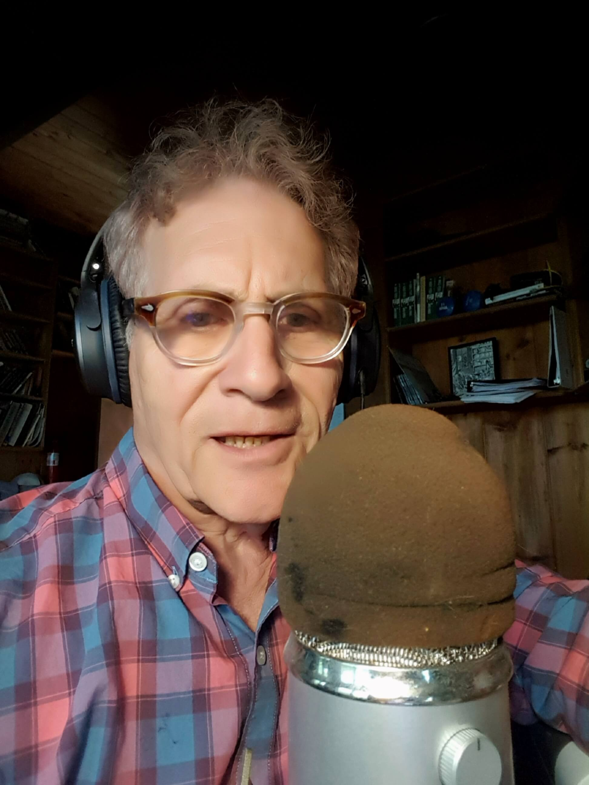 Ira Wood on the air on WOMR