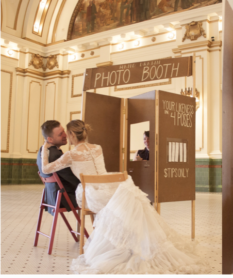 "Hand Drawn Photo Booth - ""The Hand Drawn Photo Booth is a pretend photo booth ""machine"