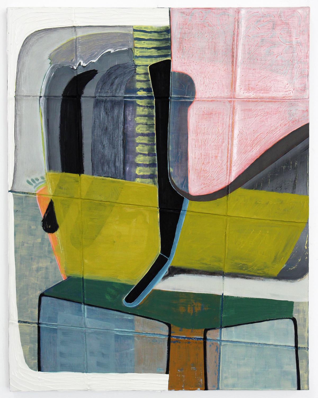 Untitled (bondage-chartreuse), 2016