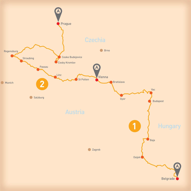 Danube - Tour Route
