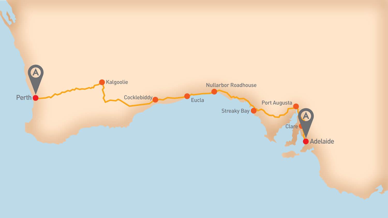 Nullarbor - Tour Route