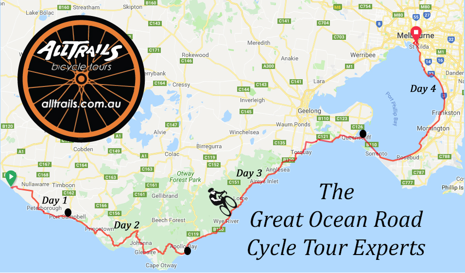 The great Ocean Road - Tour Route