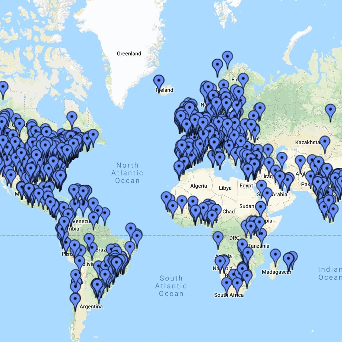 Globale Gemeinschaft - Wir sind eine weltweite Gemeinschaft von Menschen aus den verschiedensten Gesellschaftsschichten und aus beinahe allen Kontinenten der Erde.Alle TeilnehmerInnen des Kurses können sich in einer eigenen geschützten Forumseite und einer privaten Facebook-Seite miteinander austauschen und somit rund um die Uhr miteinander in Kontakt sein. So kann der Lernprozess vertieft werden, man erhält Unterstützung und Inspiration, und es macht auch noch Spaß.Von wo wir sind