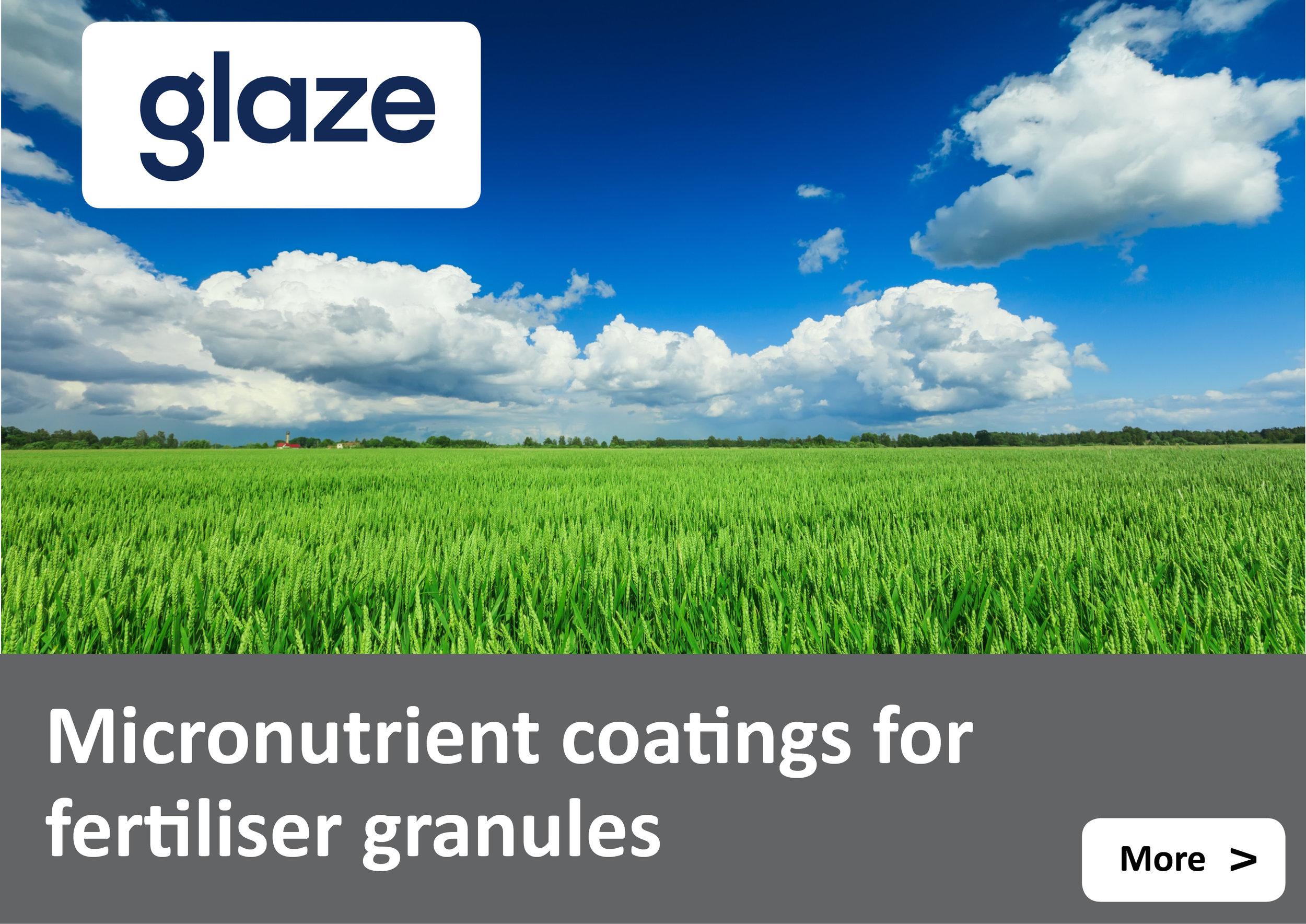 Glaze micronutrient and dust suppressant coatings for granular fertiliser