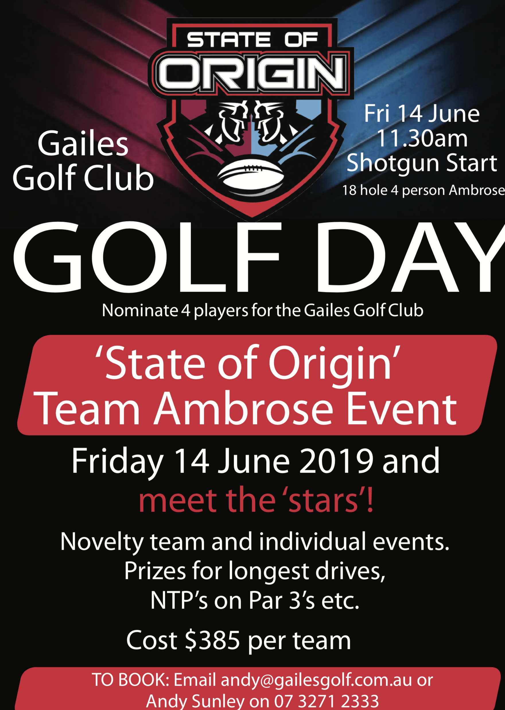 Swich On Inc is proud to assist our friends at Gailes Golf Club promote this event