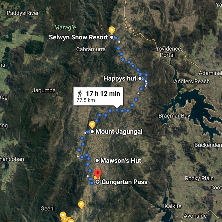 3 Selwyn to Gungartan 75kms via Jagungal