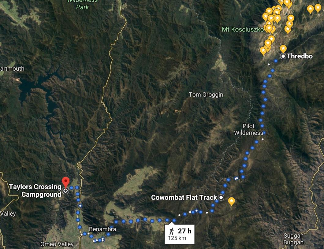 8 Thredbo to Taylors Crossing 125kms via Cobberas and Benambra