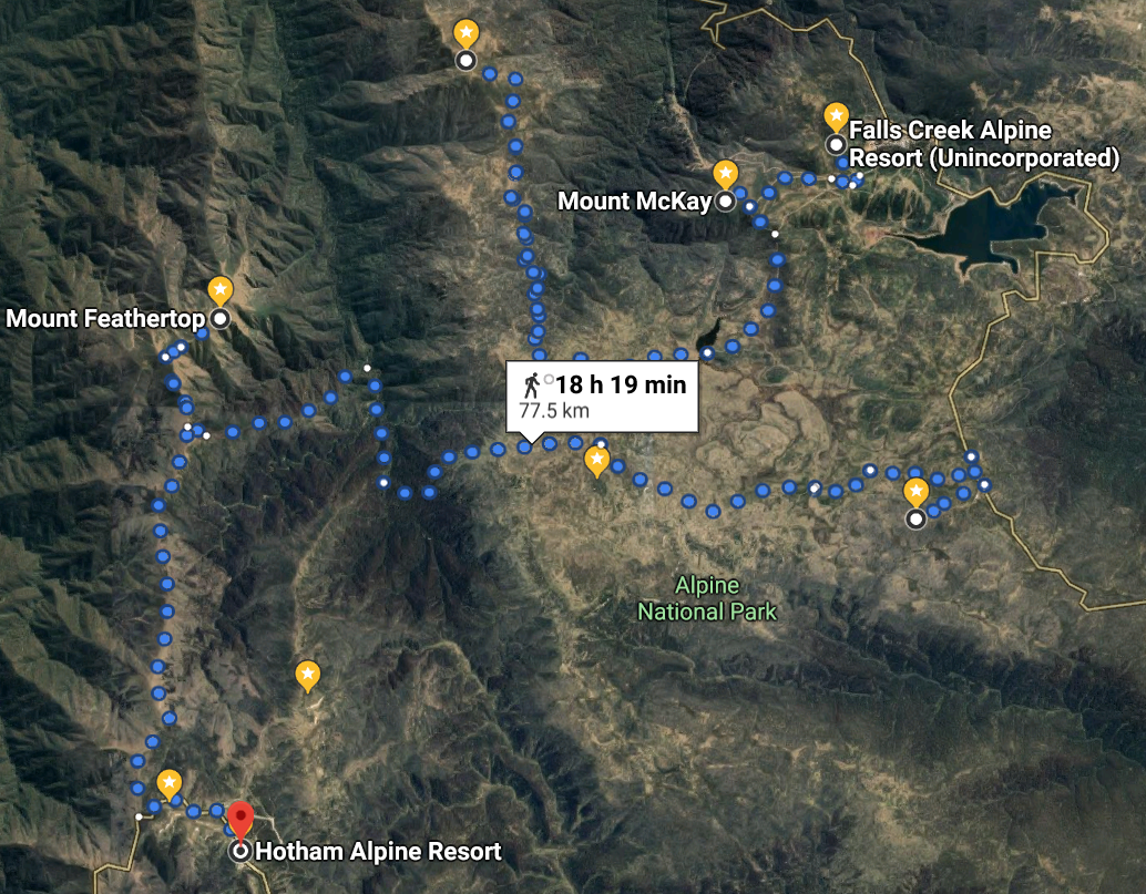 11 Falls Creek to Hotham 60kms via Fainters, Cope and Feathertop